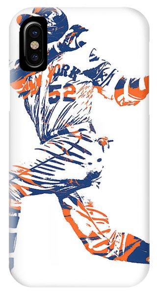 New York Mets iPhone Case - Yoenis Cespedes New York Mets Pixel Art 11 by Joe Hamilton
