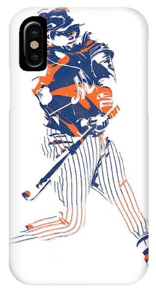 New York Mets iPhone Case - Yoenis Cespedes New York Mets Pixel Art 2 by Joe Hamilton