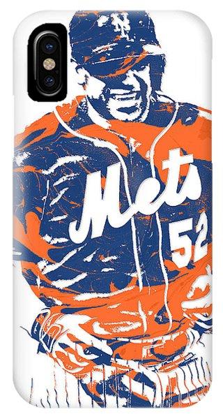 New York Mets iPhone Case - Yoenis Cespedes New York Mets Pixel Art 3 by Joe Hamilton