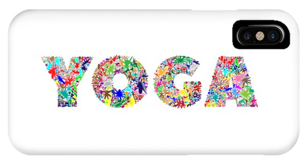 Yoga Word Art IPhone Case