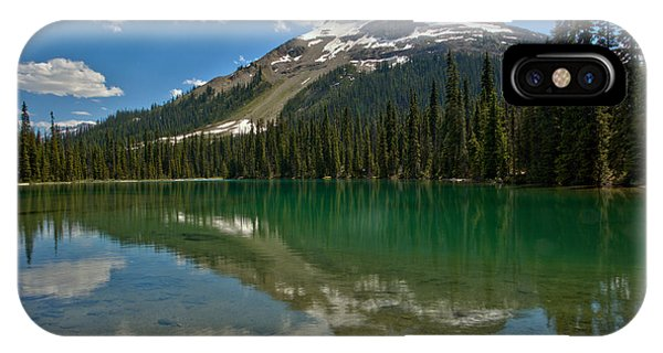 Rocky Mountain Np iPhone Case - Yoho Lake Calm Afternoon by Adam Jewell
