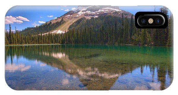 Rocky Mountain Np iPhone Case - Yoho Lake Reflections by Adam Jewell