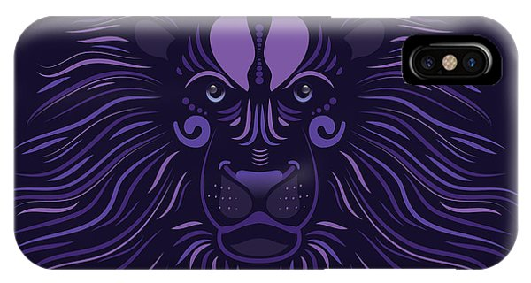 Yoni The Lion - Dark IPhone Case