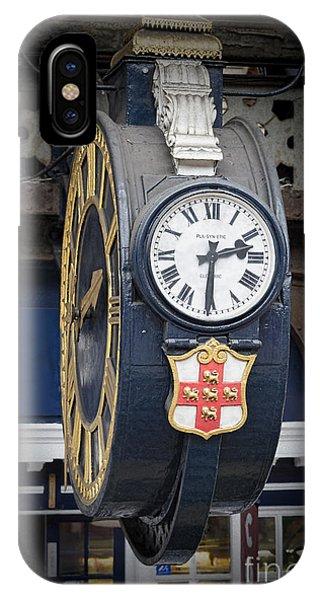 York Railway Station Clock IPhone Case
