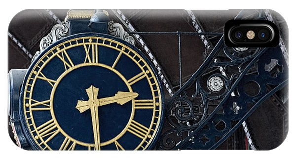 York Railway Station Clock Face IPhone Case