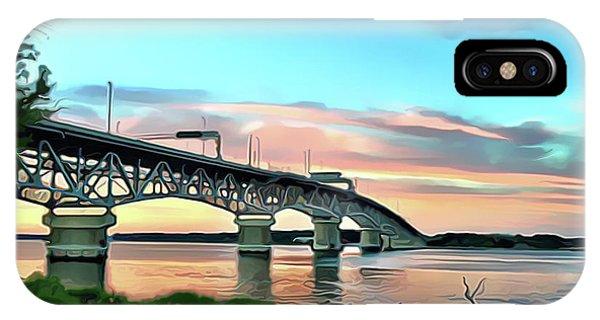 iPhone Case - York River Bridge by Harry Warrick
