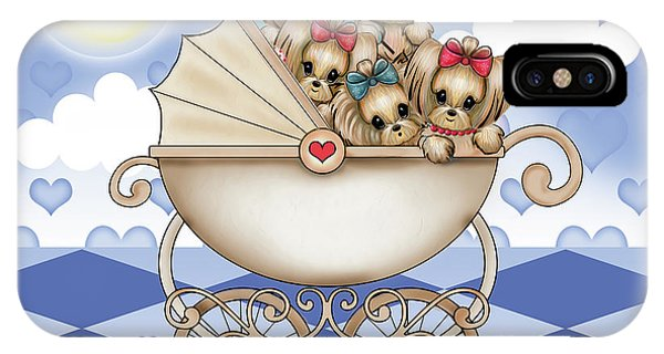 Yorkie Babies Strolling  IPhone Case
