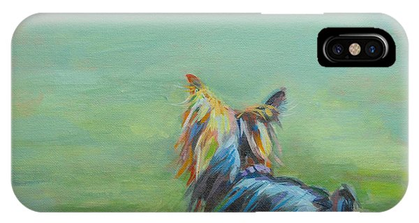Pet iPhone Case - Yorkie In The Grass by Kimberly Santini