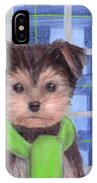 Yorkie Poo With Scarf IPhone Case