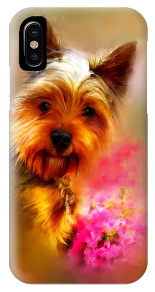 Yorkie Portrait IPhone Case