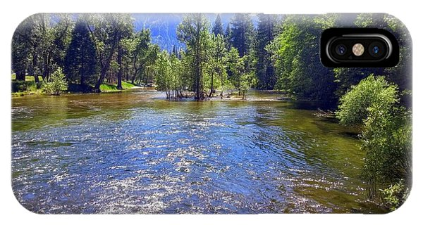 Yosemite River At Ease IPhone Case