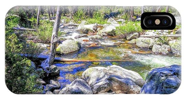 Yosemite Boulder Stream IPhone Case