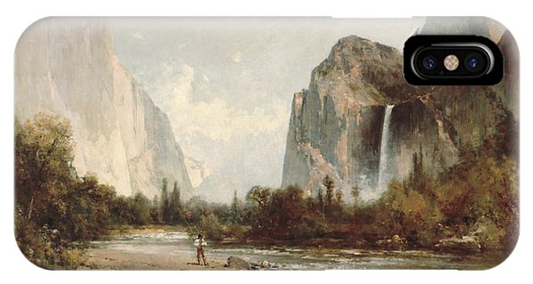 Bridal iPhone Case - Yosemite Bridal Veil Falls by Thomas Hill