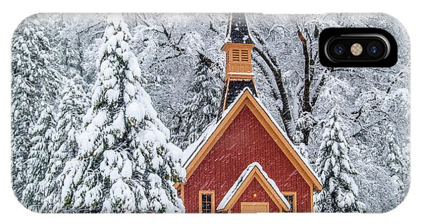 iPhone Case - Yosemite Chapel In The Snow by Bill Gallagher