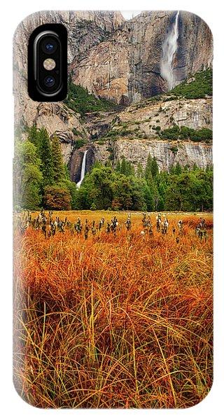 Yosemite Falls Autumn Colors IPhone Case