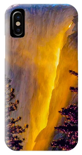 Yosemite Firefall Painting IPhone Case