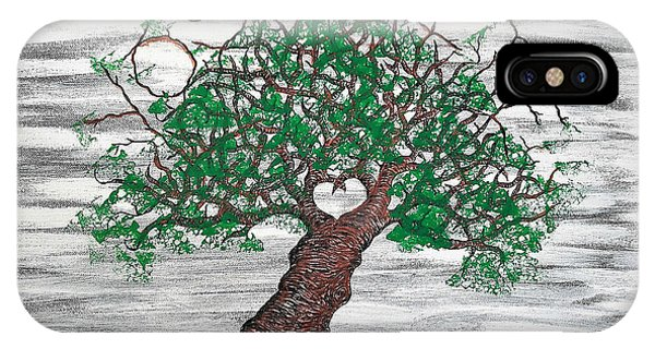 IPhone Case featuring the drawing Yosemite Love Tree by Aaron Bombalicki