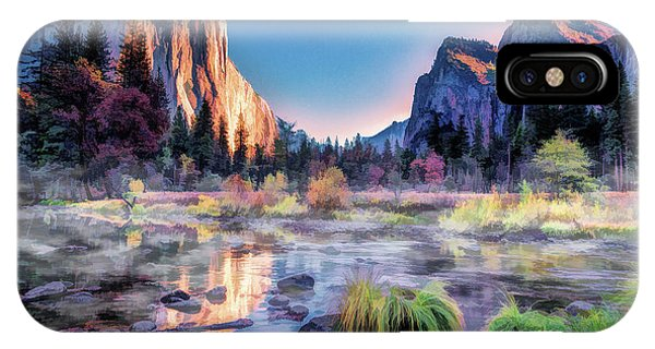 IPhone Case featuring the painting Yosemite National Park Valley by Christopher Arndt