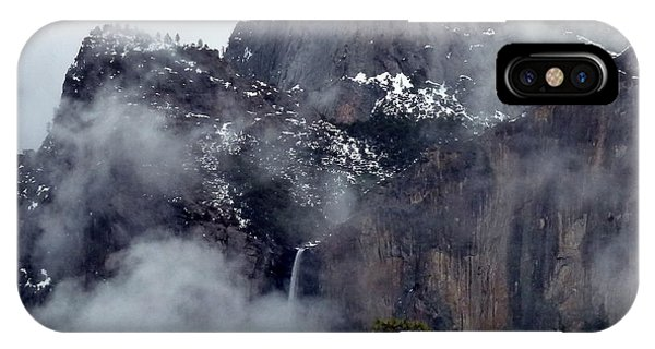 Yosemite Snowy Bridalveil Falls  IPhone Case