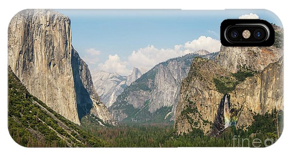 Yosemite Tunnel View With Bridalveil Rainbow By Michael Tidwell IPhone Case