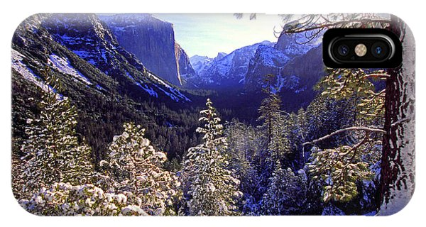 Yosemite Valley In Winter, California IPhone Case
