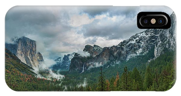 Yosemite Valley Storm IPhone Case
