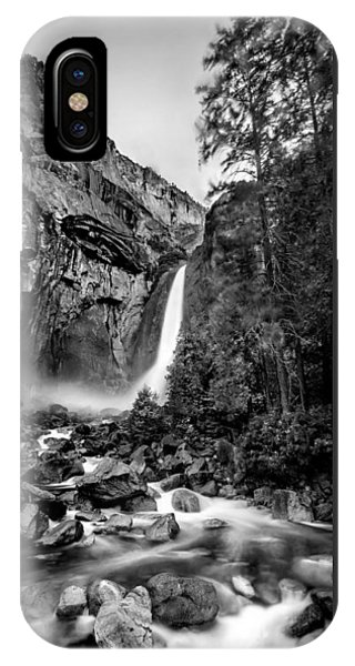 Yosemite Waterfall Bw IPhone Case
