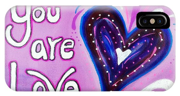 You Are Love Purple Heart IPhone Case
