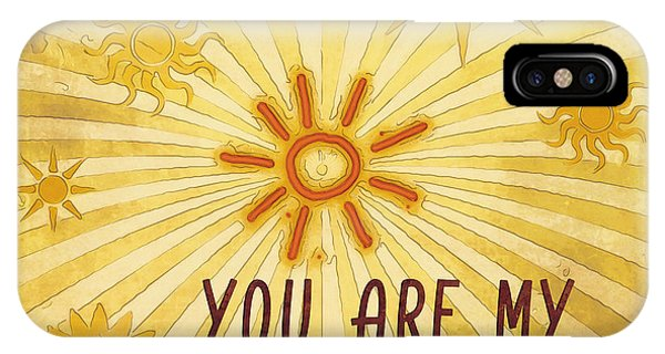Beam iPhone Case - You Are My Sunshine by Jutta Maria Pusl