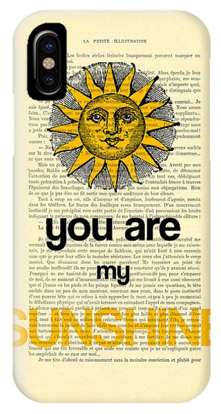 Cupid iPhone Case - You Are My Sunshine by Madame Memento