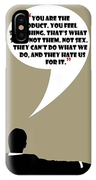 You Are The Product - Mad Men Poster Don Draper Quote IPhone Case