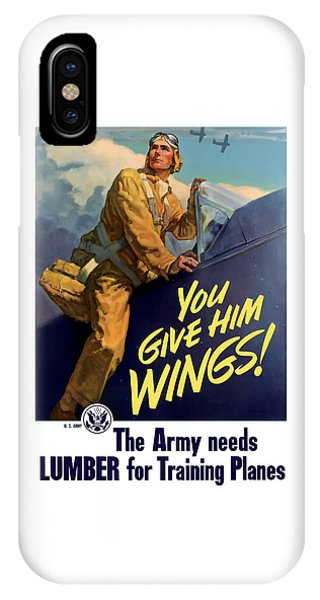 World War Two iPhone Case - You Give Him Wings - Ww2 by War Is Hell Store