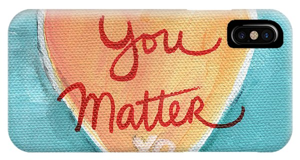 Hearts iPhone Case - You Matter Love by Linda Woods
