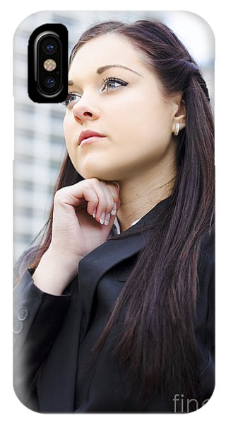 Young Business Woman With Grand Business Ideas IPhone Case