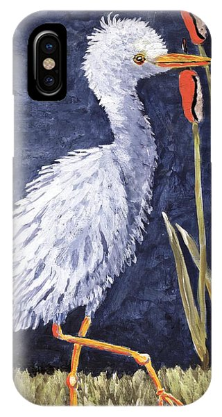 Young Egret Takes A Walk IPhone Case