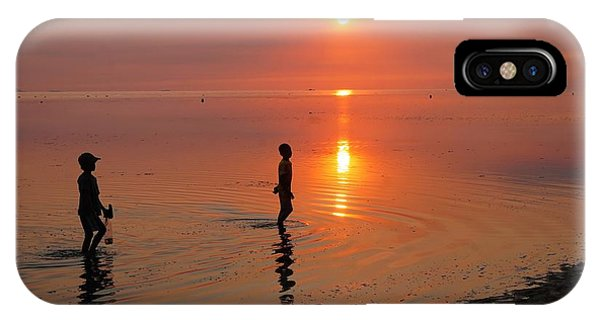 Young Fishermen At Sunset IPhone Case