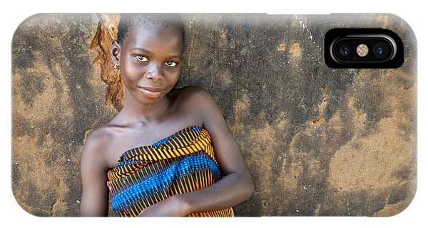 Earthy iPhone Case - Young Girl In A Togo Village  by David Smith