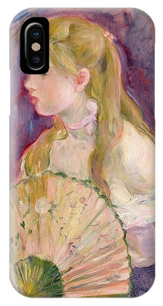 Youthful iPhone Case - Young Girl With A Fan by Berthe Morisot
