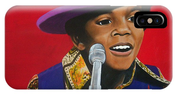 Young Michael Jackson Singing IPhone Case