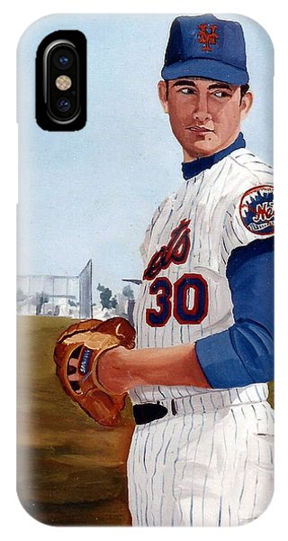 Young Nolan Ryan - With Mets IPhone Case