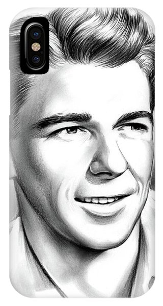 United States Presidents iPhone Case - Young Reagan by Greg Joens