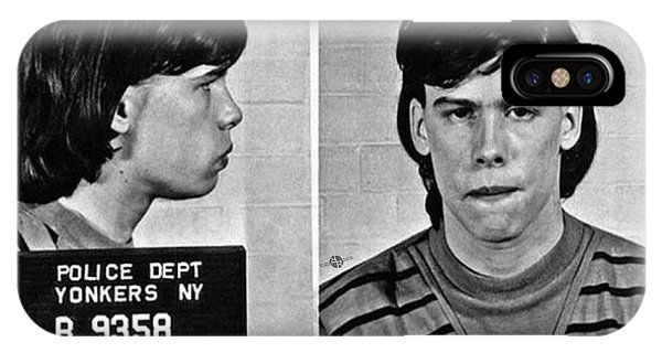 Steven Tyler iPhone Case - Young Steven Tyler Mug Shot 1963 Pencil Photograph Black And White by Tony Rubino