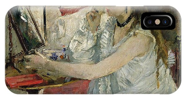 1877 iPhone Case - Young Woman Powdering Her Face by Berthe Morisot