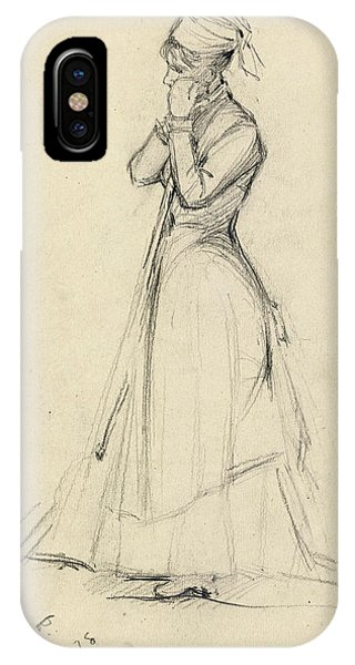 Impressionistic iPhone Case - Young Woman With A Broom by Dennis Miller Bunker