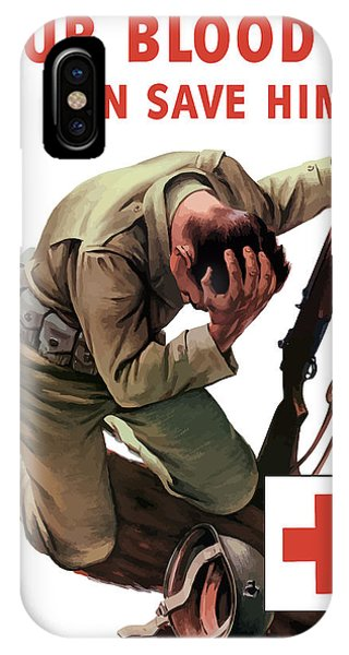Cross iPhone Case - Your Blood Can Save Him - Ww2 by War Is Hell Store