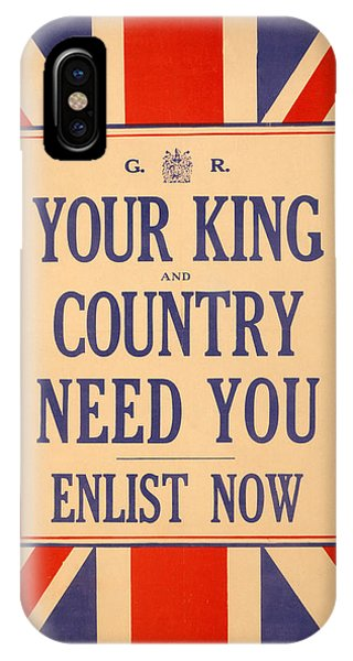 Your King And Country Need You IPhone Case
