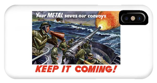 World War Two iPhone Case - Your Metal Saves Our Convoys by War Is Hell Store