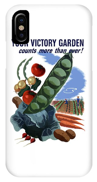 World War Two iPhone Case - Your Victory Garden Counts More Than Ever by War Is Hell Store