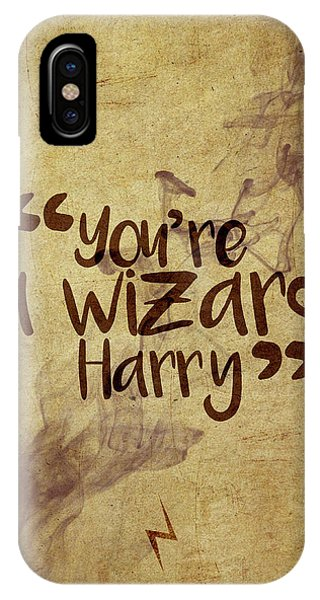 Wizard iPhone X Case - You're A Wizard Harry by Samuel Whitton