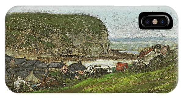 Impressionistic iPhone Case - Yport And The Falaise D'aval by Claude Monet